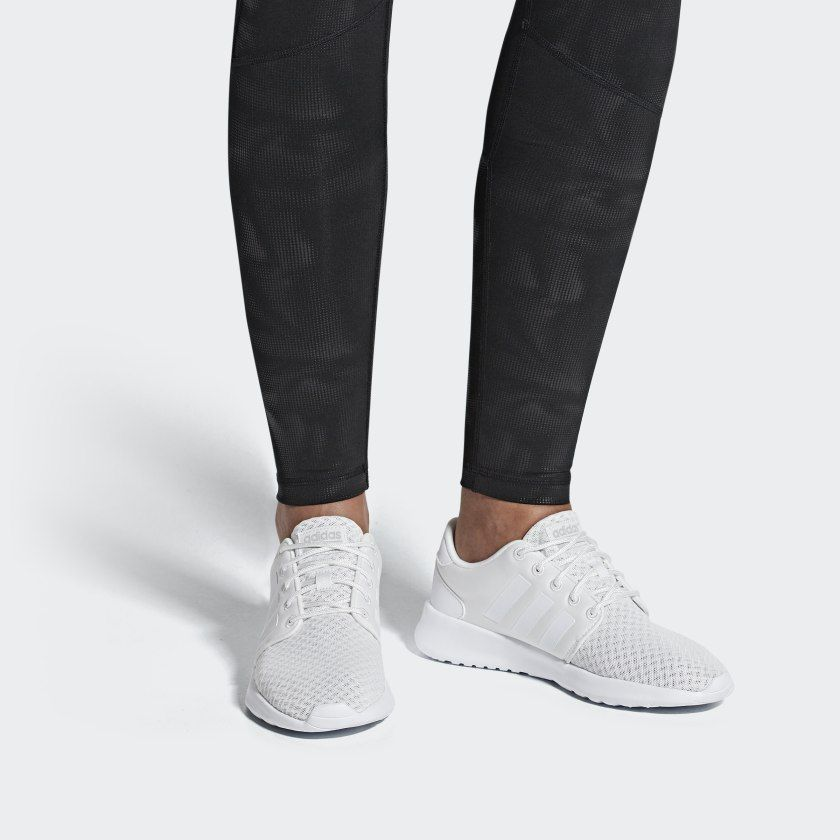 Cloudfoam QT Racer Shoes White Womens in 2019 | Adidas