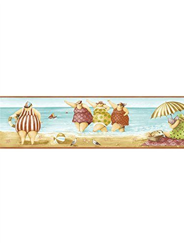 Chairs And Birds Border Discount Wallcovering Wallpaper Borders For Bathrooms Seaside Wallpaper Beach Wallpaper
