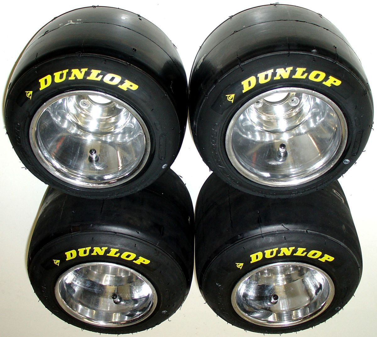 New Used Tires Wheels Rims In Orlando Fl Er Tire >> Set Of New Dunlop Racing Go Kart Tires Used Polished Wheels Go