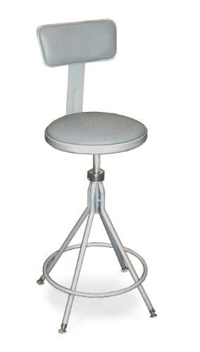 swivel stool with adjustable vinyl padded seat and back overstock shopping the best prices on national public seating commercial stools - National Public Seating