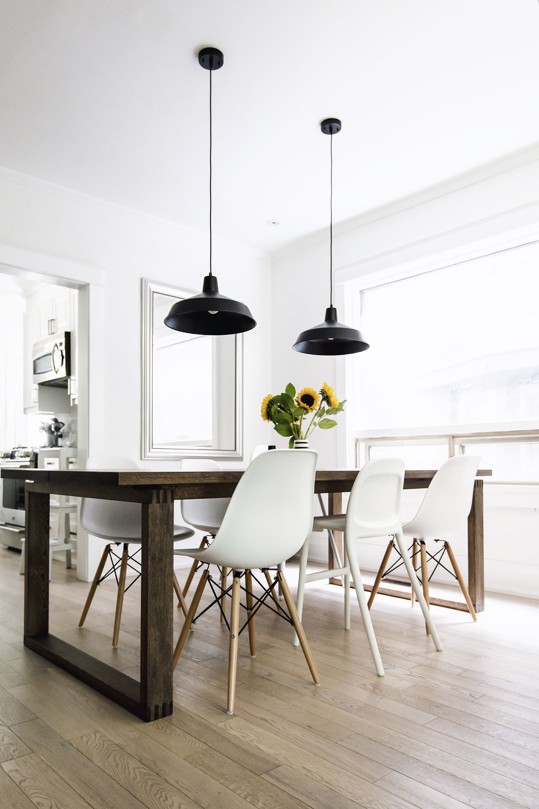 Eames Style Dining Table And Chairs Scandinavian Inspired Dining Room Mörbylånga Table