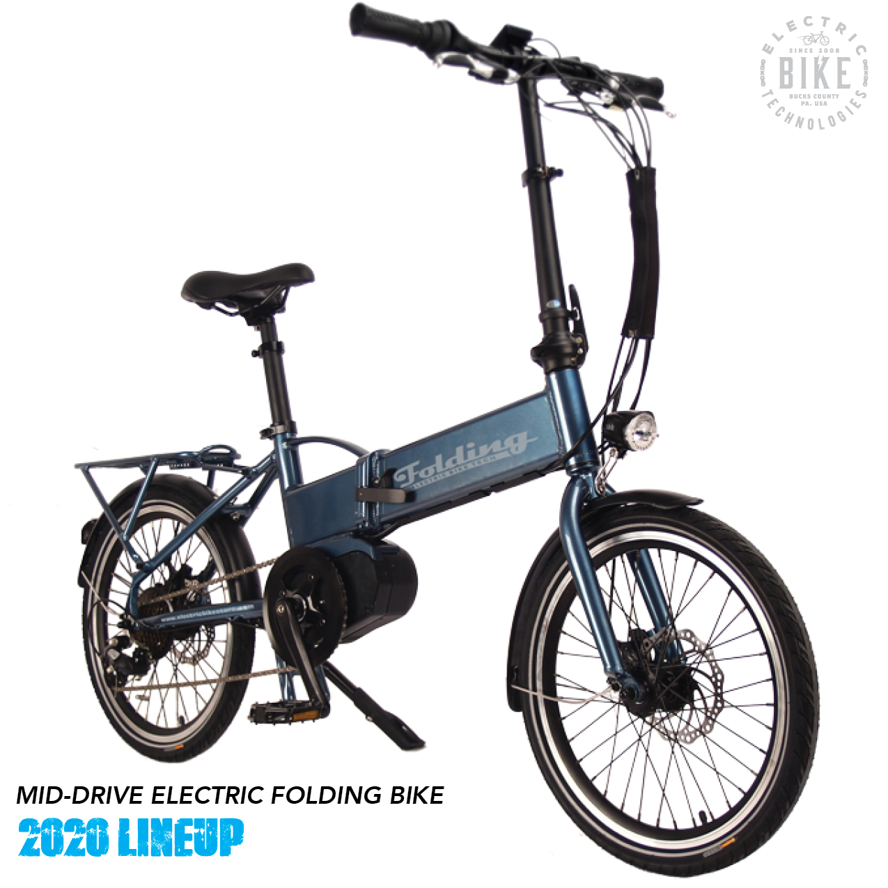 Compact And Powerful The Mid Drive Electric Folding Bike Easily