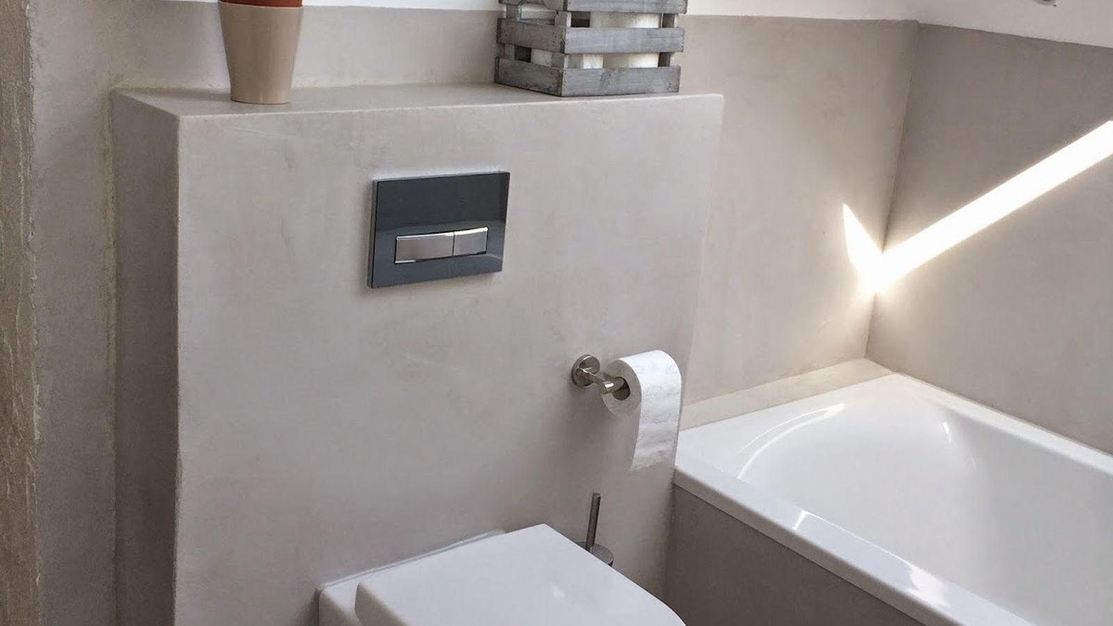 Was für eine Wohlfühloase - Badezimmer mit unserem BETOfloor