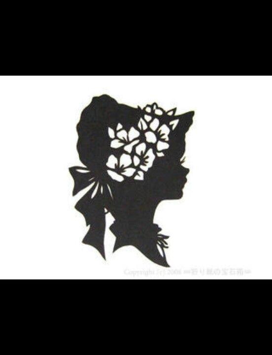 Girl silhouette.