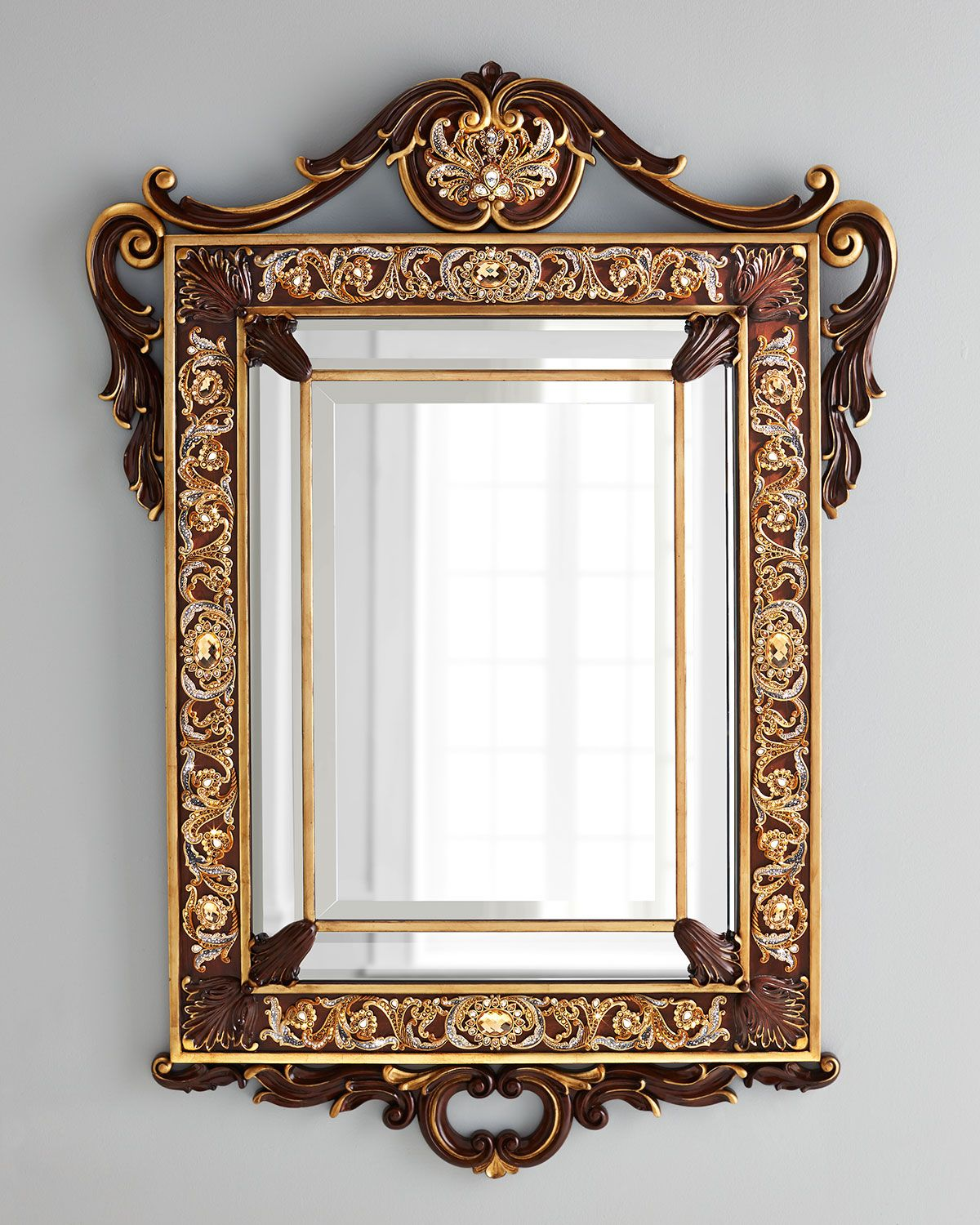 Jay Strongwater Wood Wall Mirror | Mirrors | Pinterest
