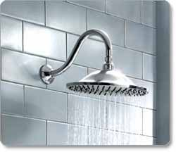 This Showerhead Creates Gentle Rain Pointing Downwards Not High