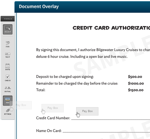 New Feature Collect Credit Card Payments Rightsignature Documents