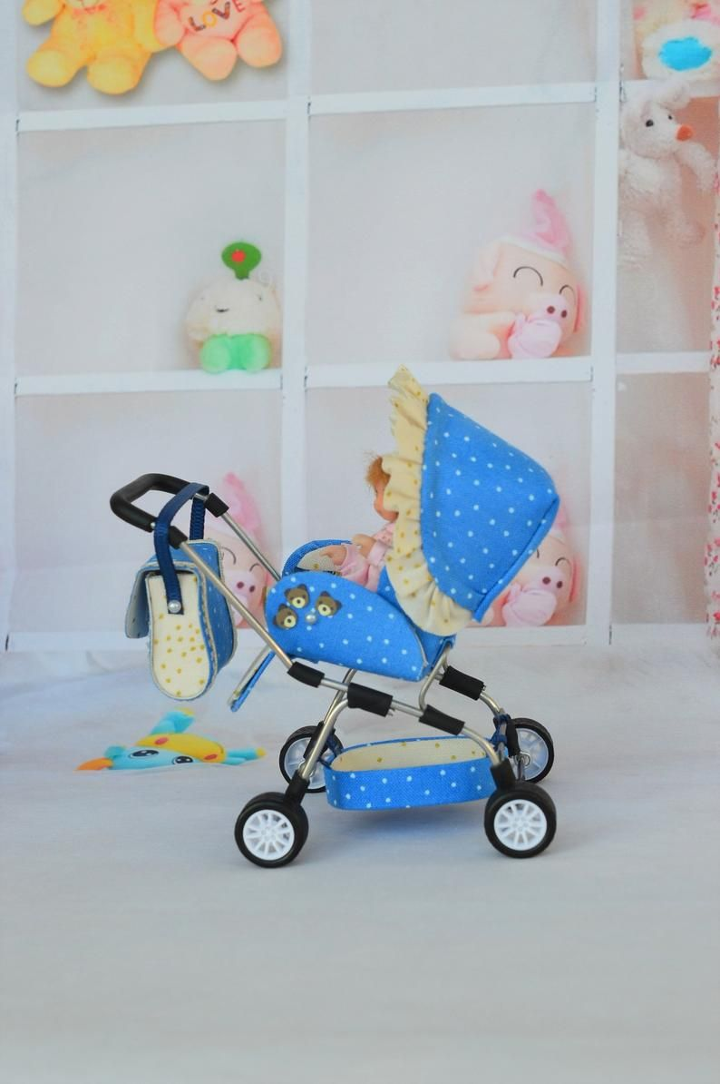 Miniature Baby Carriage Stroller 12th scale/ Miniature for