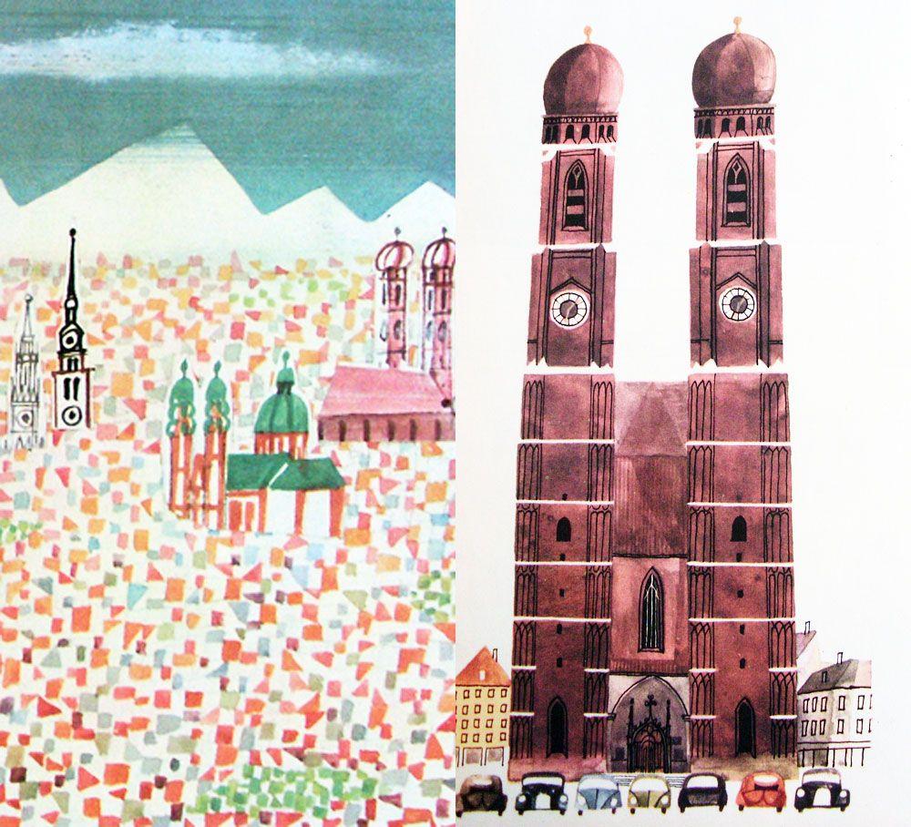 Miroslav Sasek Illustration Retro Illustration Drawing Illustrations