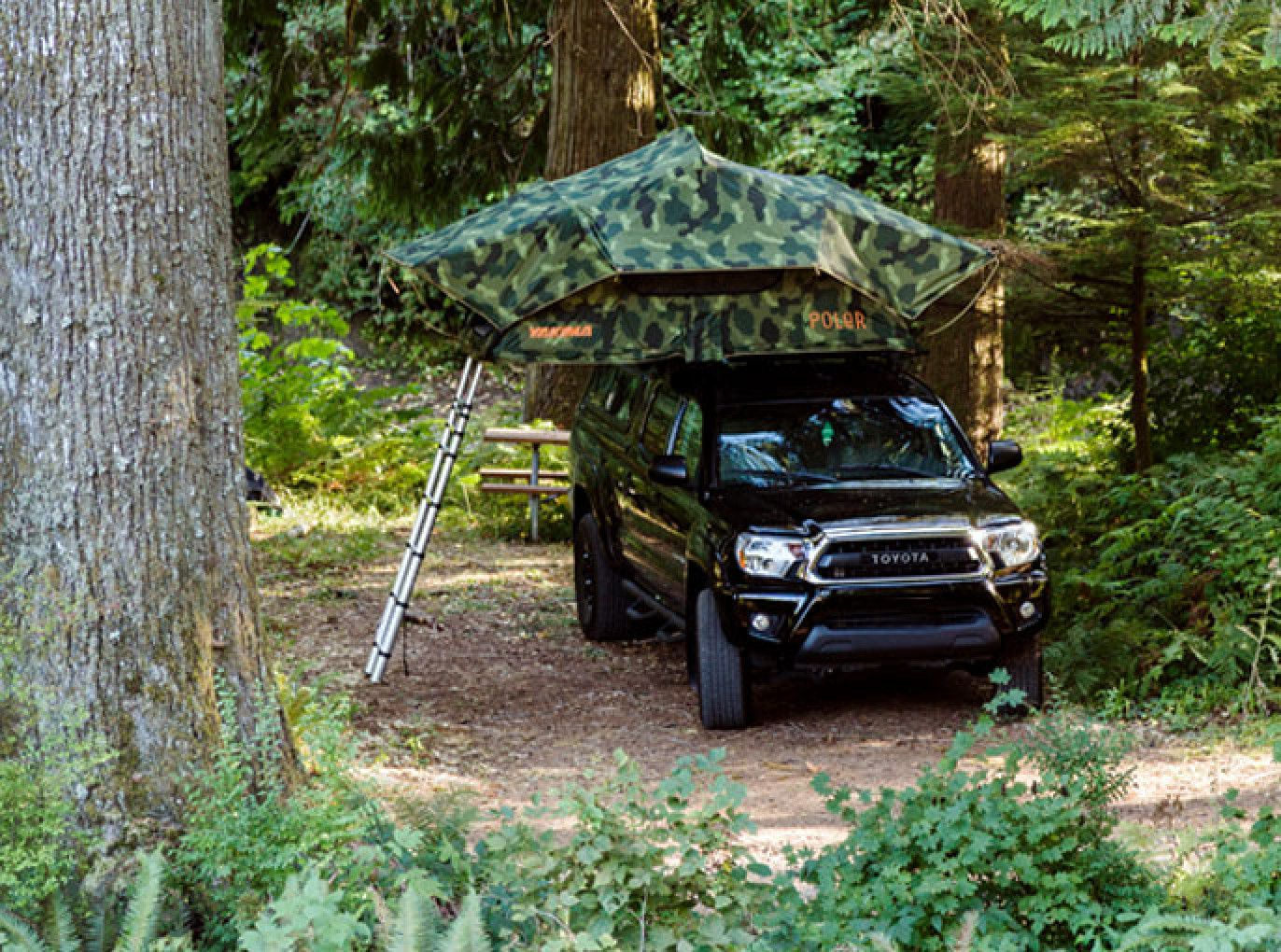 Yakima SkyRise Rooftop Tent Roof top tent, Truck canopy