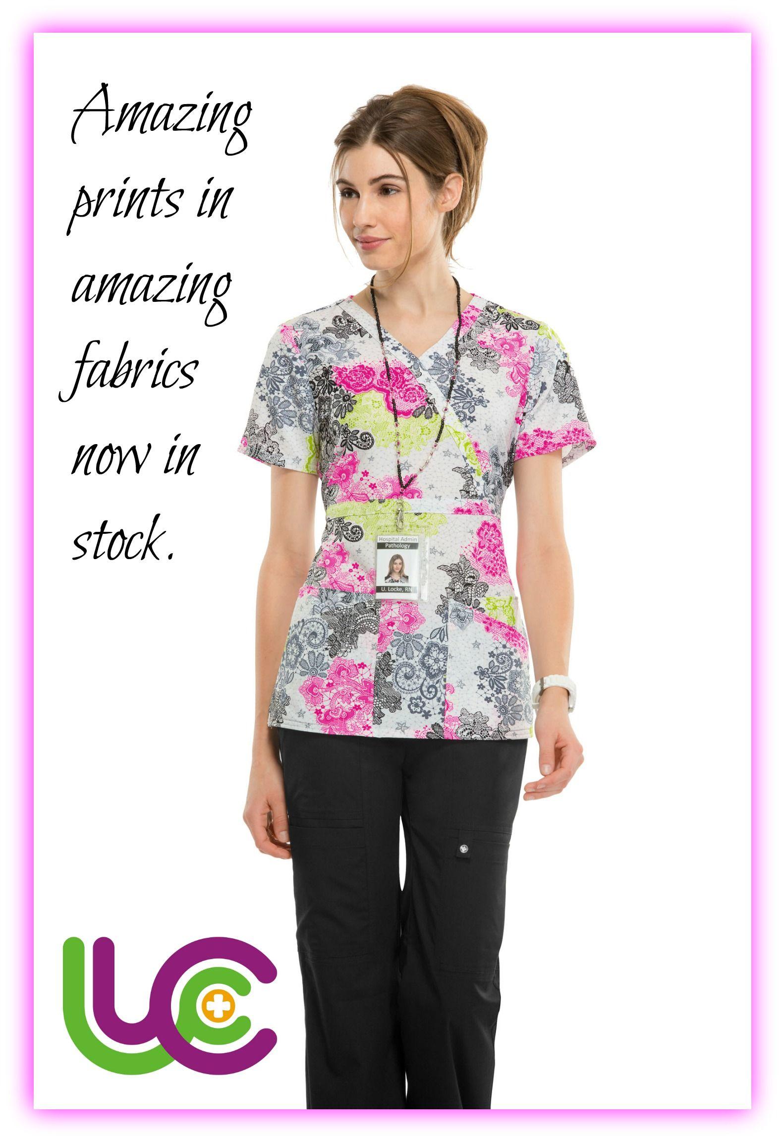 Amazing prints in amazing fabrics in stock now nurses