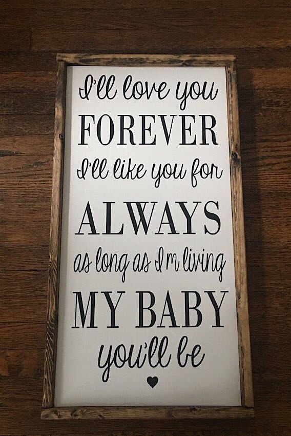 Wooden Sign Decor Beauteous I'll Love You Forever Nursery Wall Decor Farmhouse Decor Baby Review