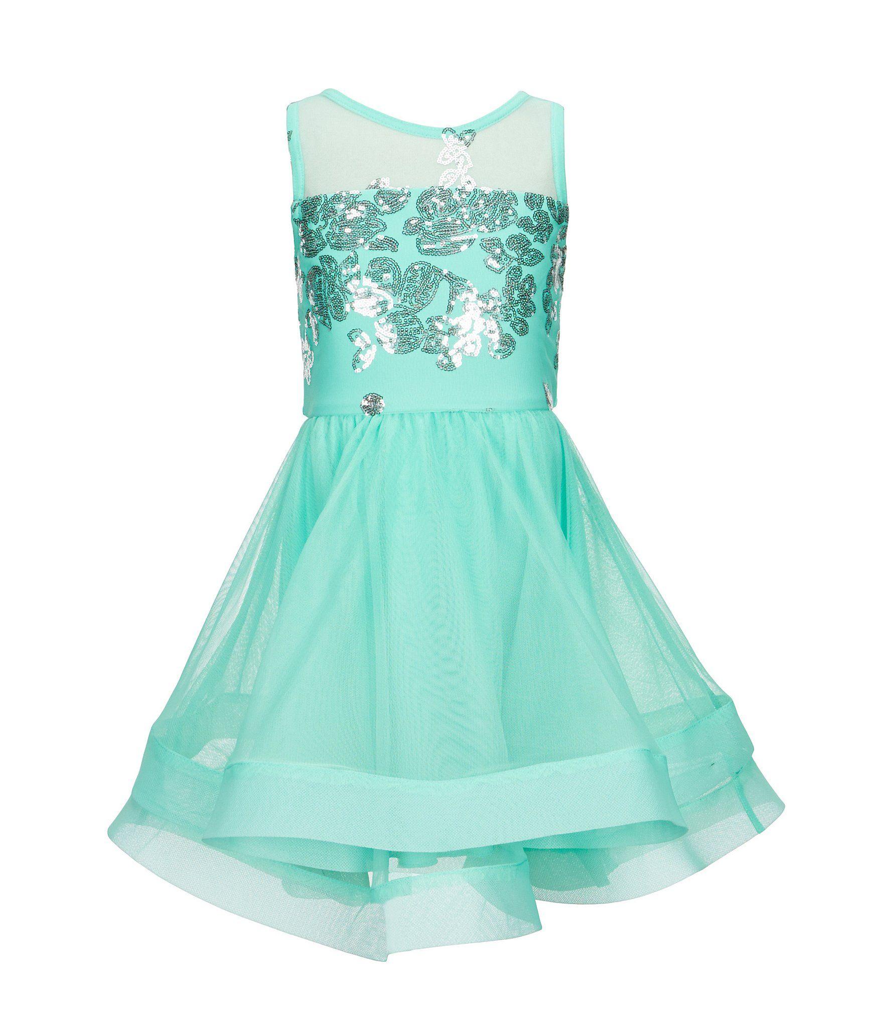 2b4d73b3c Honey and Rosie Big Girls 716 Illusion HorsehairHem Dress  Dillards ...