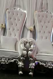 Wedding Throne Chairs For Hire UK / London / Milton Keynes