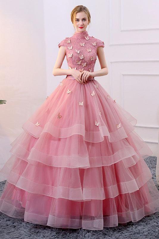 Blue sweetheart sequin tulle long prom dress, blue evening dress ...