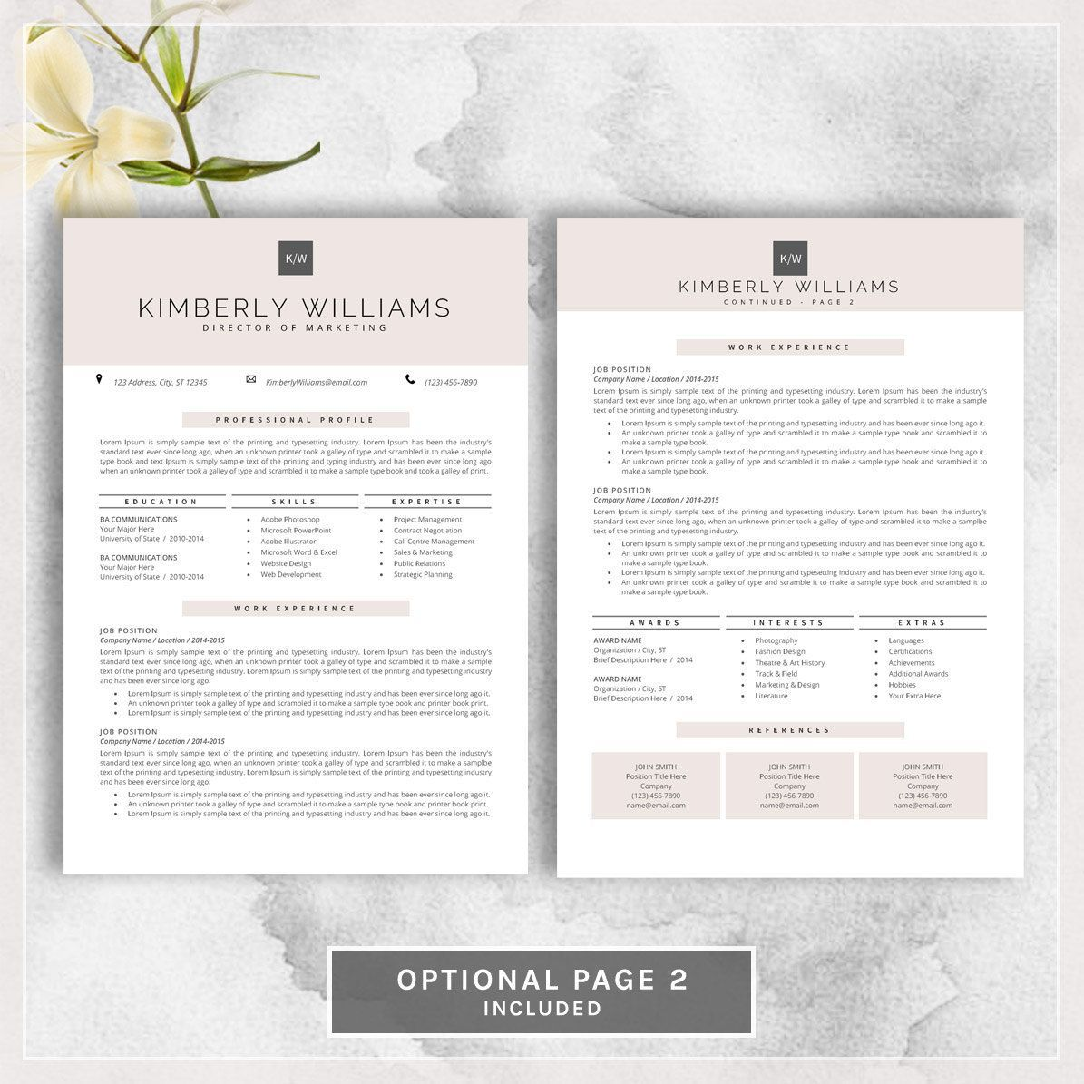 Professional Resume Template CV Template by