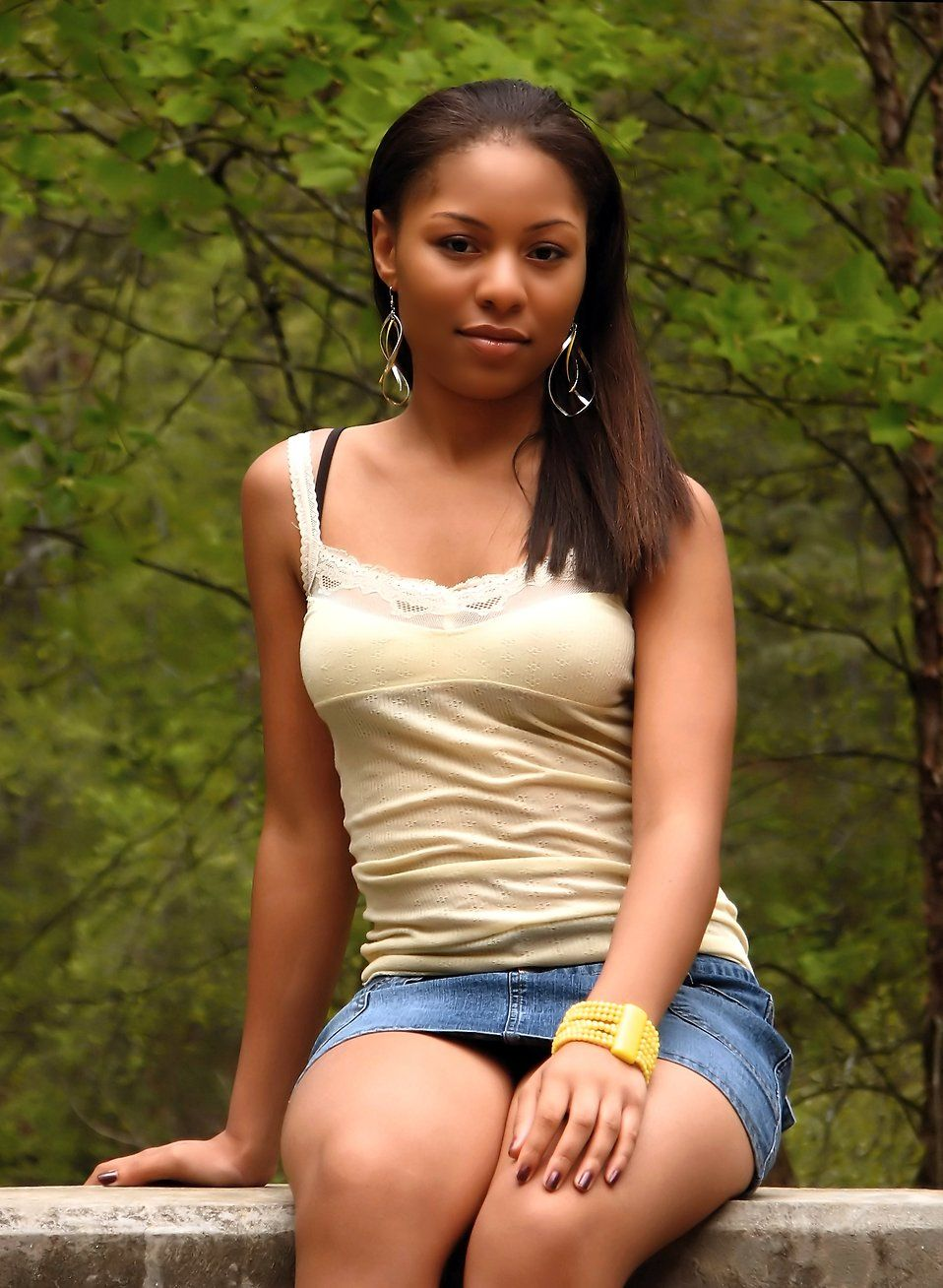 Nude virgin of ebony teen with