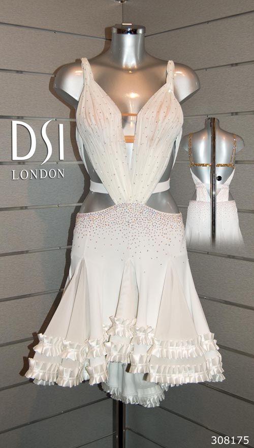 White Latin Dress Latin Dress Ballroom Dress Latin Dance Dresses