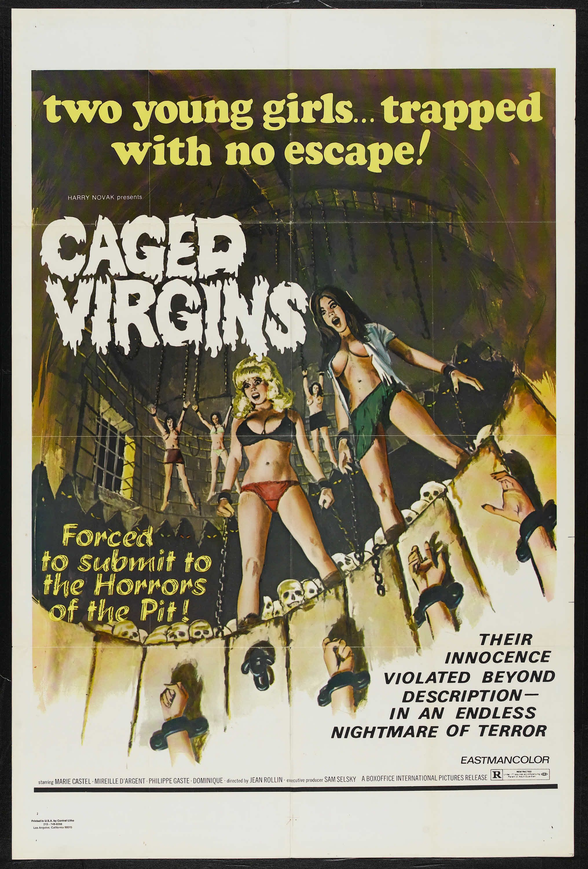 Caged Virgins Exploitation Movie Poster Classic Horror Movies