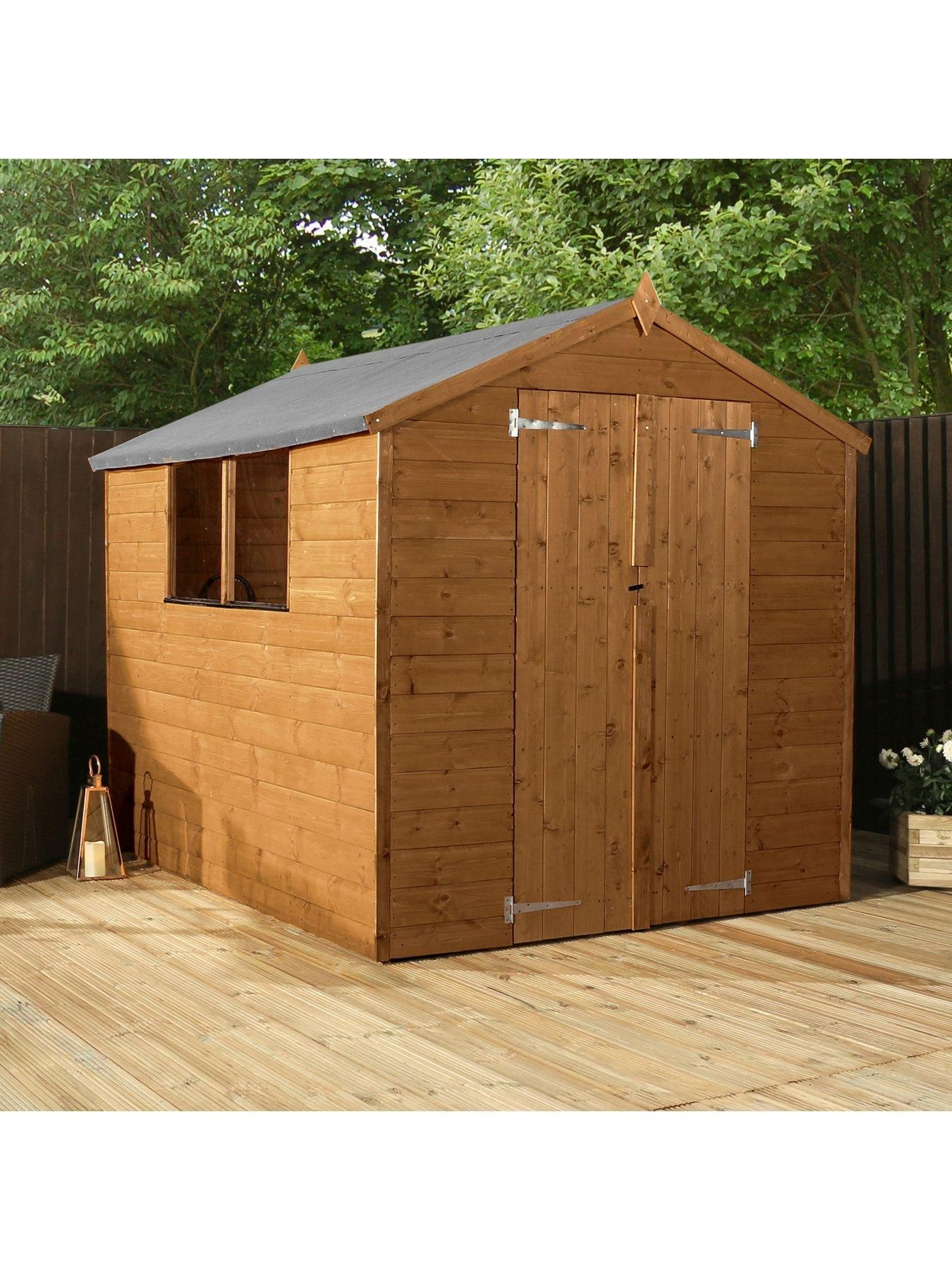 Mercia 8x6 Premium Shiplap Pressure Treated Apex Shed In 2020 Apex Shed Shed Apex Roof