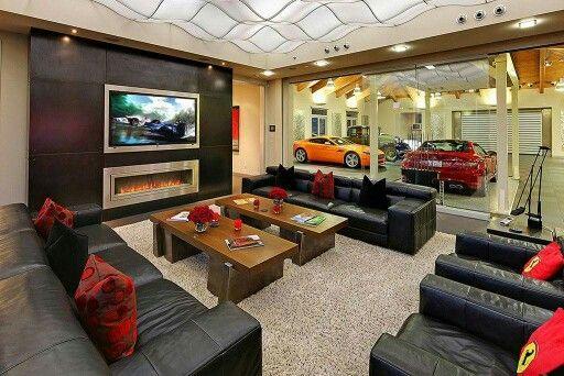 Ultimate Man Cave Inside 3 Contemporary House Design Garage