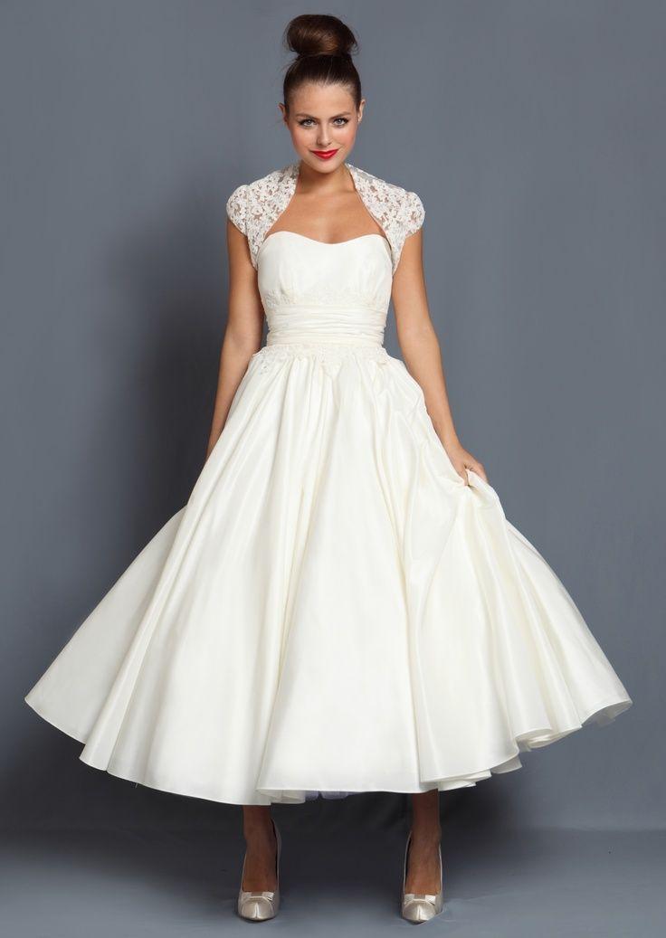 Pin by Madzialena on Suknia | Pinterest | Wedding dress, Tea length ...