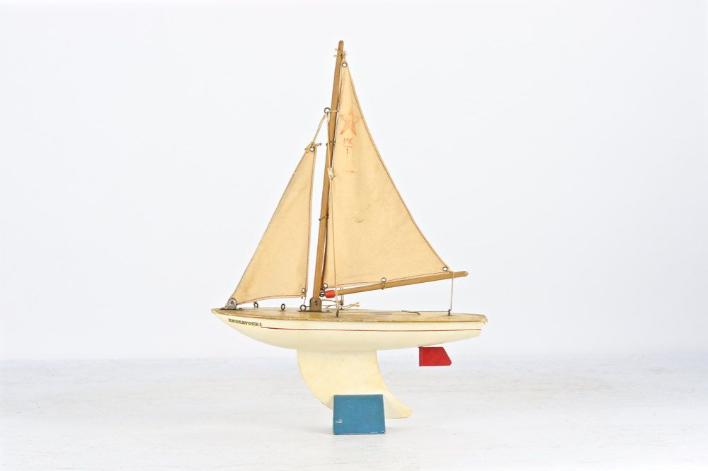 Vintage Toy Sailboat, Pond Yacht, Star Yacht Sailboat MK 1 ...