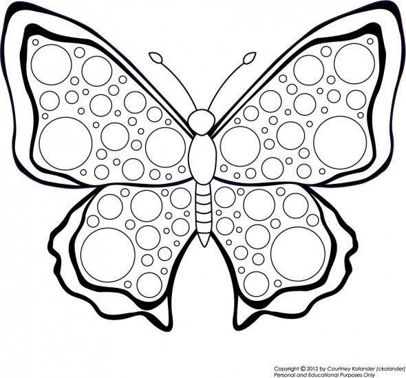 Free Butterfly Printable To Color By Ckolander Butterfly Mosaic