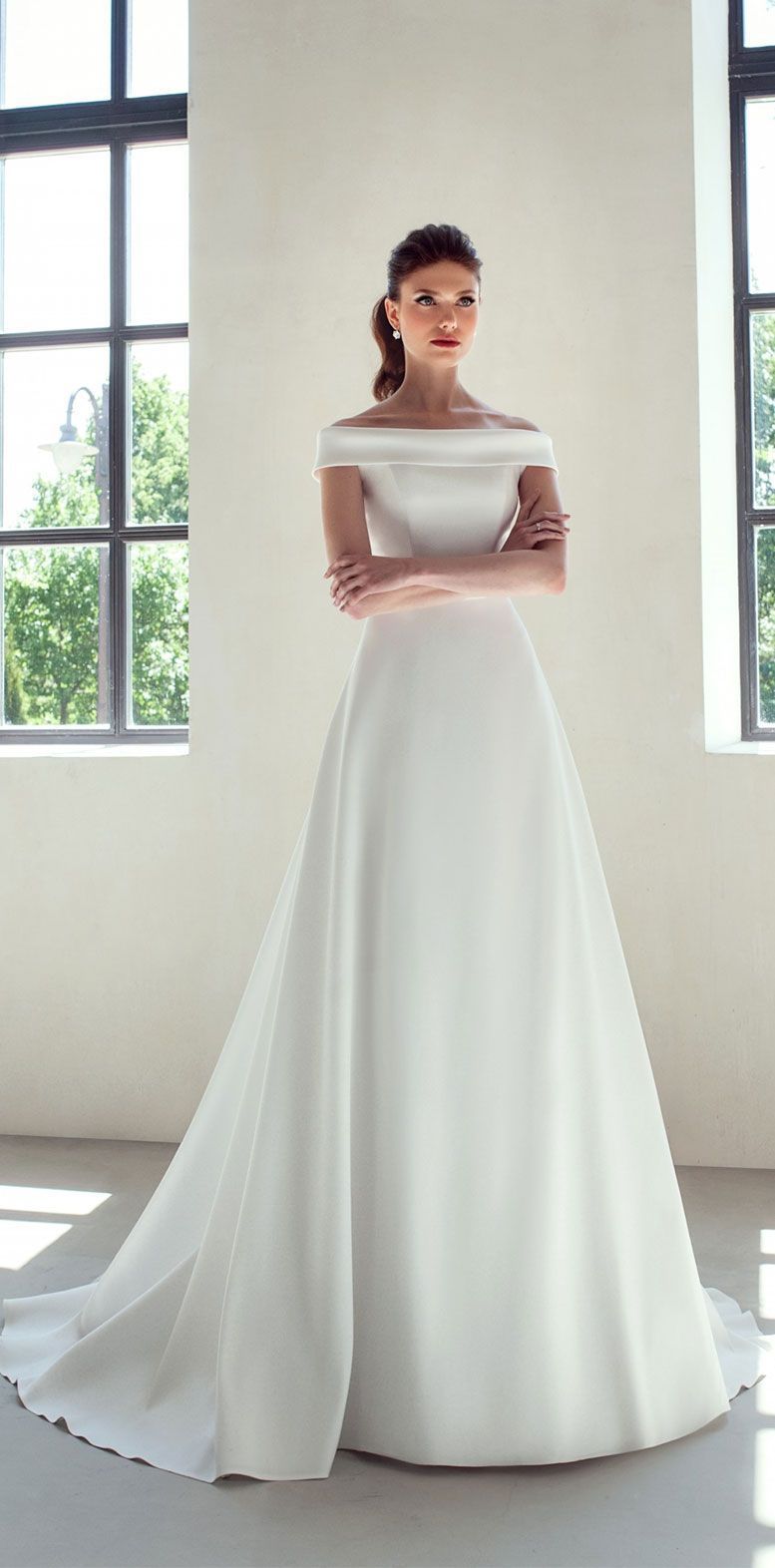 2020 Wedding Simple Wedding Gowns Off Shoulder Wedding Dress Wedding Dresses Simple