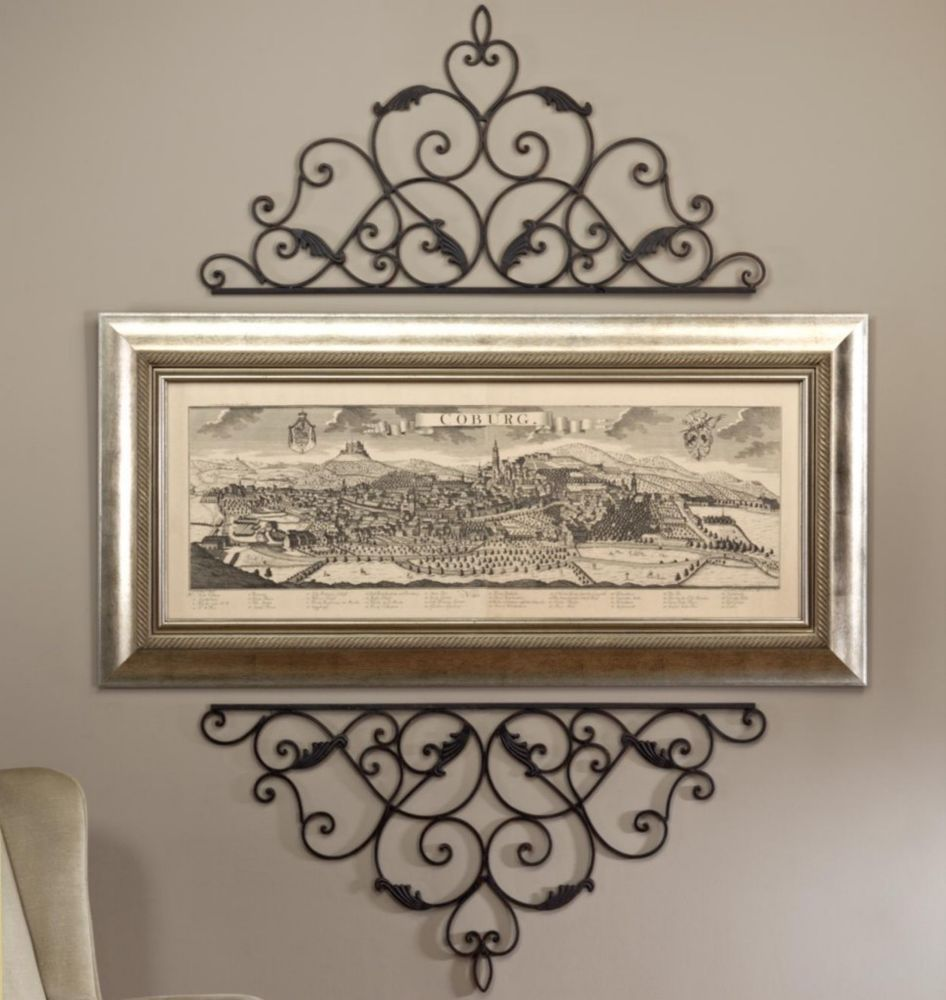 Wrought Iron Wall Scrolls Wrought Cast Iron Metal Decorative Wall Scroll For Picture Mirror
