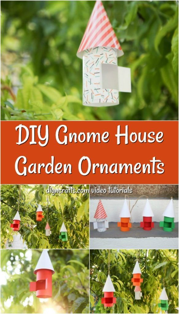 If you have a garden then you need a gnome house made out of paper! This craft is one that is super easy to make and hang outside in trees or place on shrubbery in your garden or around your house. All you need are a few pieces of printed paper, scissors, glue, and something to hang them. Such an easy craft to make with your kids too! DIY + Images: DIYnCrafts.com  #diyhomedecor #homedecorprojects #gardendesign #gardenart #diygardendesign