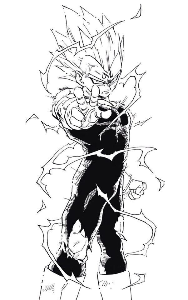 Majin vegeta dragon ball z dessin manga bd manga - Vegeta dessin ...