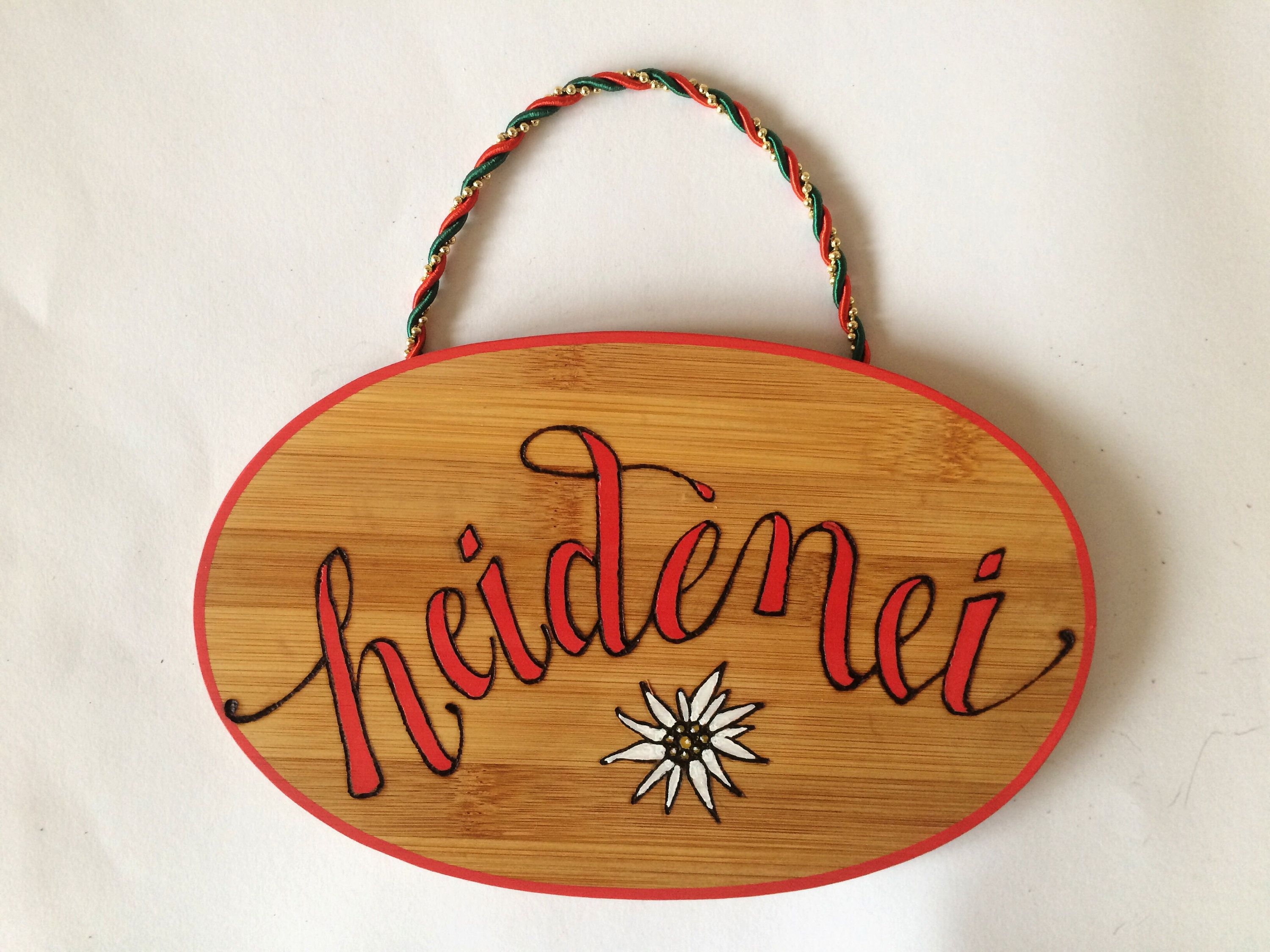 German Sign Inspirational Plaque Heidenei Gift For Friend Birthday Wood