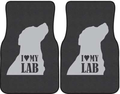 I+Love+My+Lab+Silhouette+Car+Mats