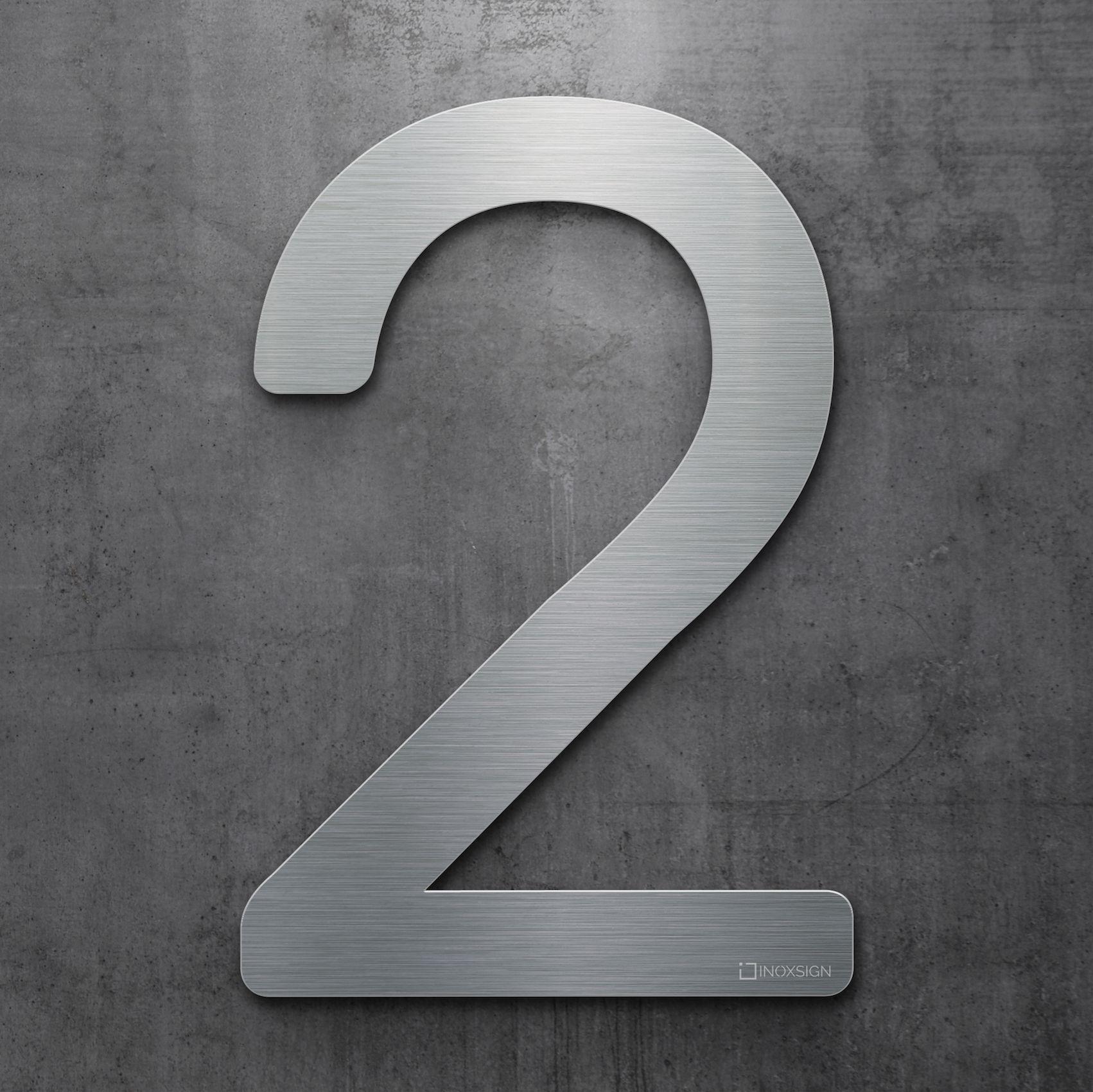 Moderne Hausnummern neu inoxsign edelstahl hausnummer 2 moderne hausnummern aus