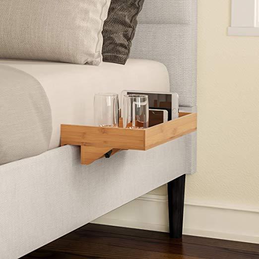 Lavish Home Bedside Shelf EcoFriendly Bamboo Modern