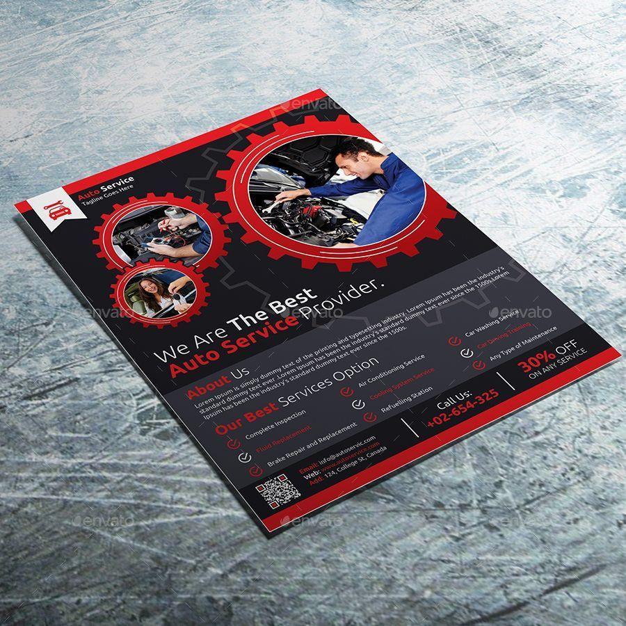 Auto Service Business Flyer