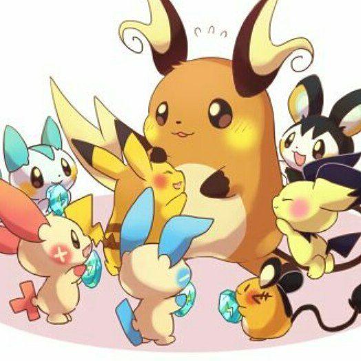 Raichu, Pikachu, Pichu, Emolga, Pachirisu, Plusle, Minun ...