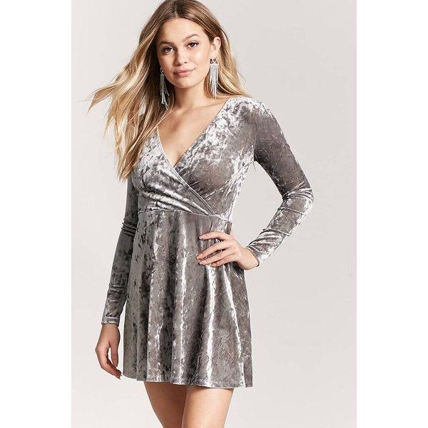 Long Sleeve Velvet Dress Forever 21