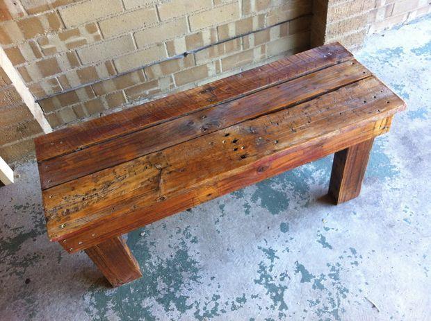 Diy Pallet Bench Pallet Bench Outdoor Rustic Bench Seat Pallet Diy