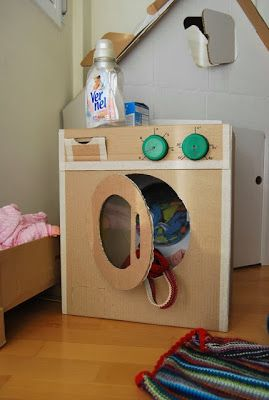 jouets en carton machine laver pour enfants. Black Bedroom Furniture Sets. Home Design Ideas
