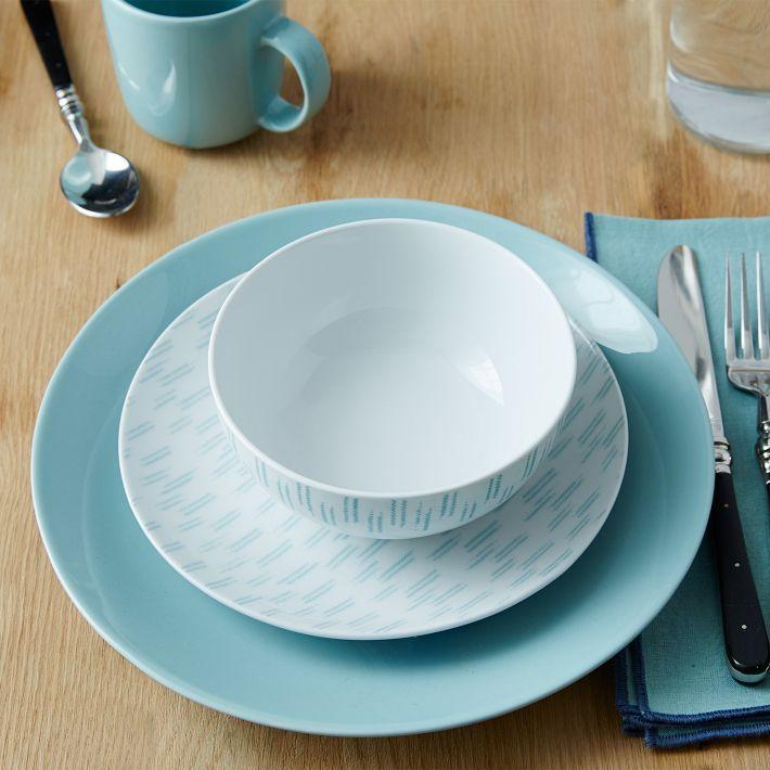 Pattern Palette Dinnerware Set - Double Ikat Light Pool