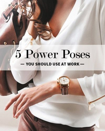 Body Language is everything  5 Power Poses You Should Use at Work  is part of Career development -