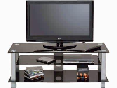 inspirant meuble tv verre noir flat