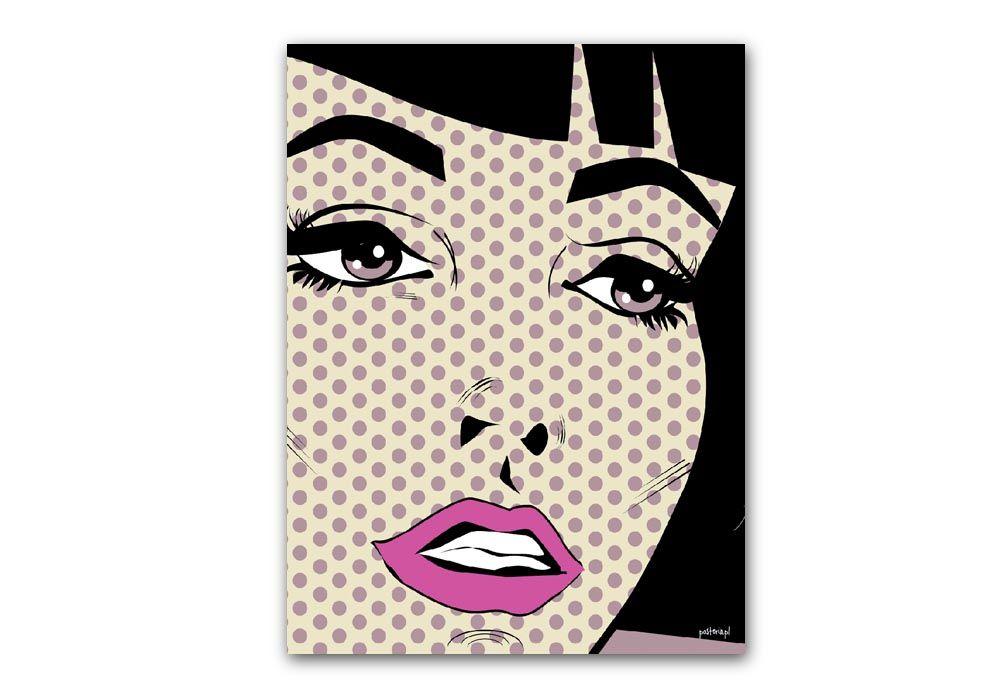 Plakat papierowy 30x40, twarz - PROMOCJA - markowy