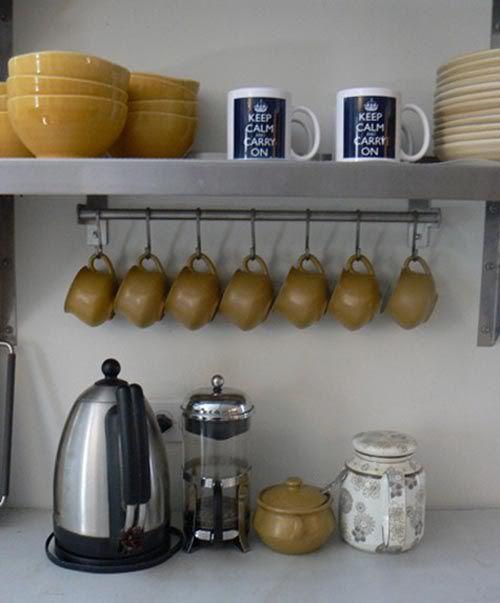6 Hooks Cup Holder Hang Kitchen Cabinet Under Shelf: Best 25+ Coffee Corner Ideas On Pinterest