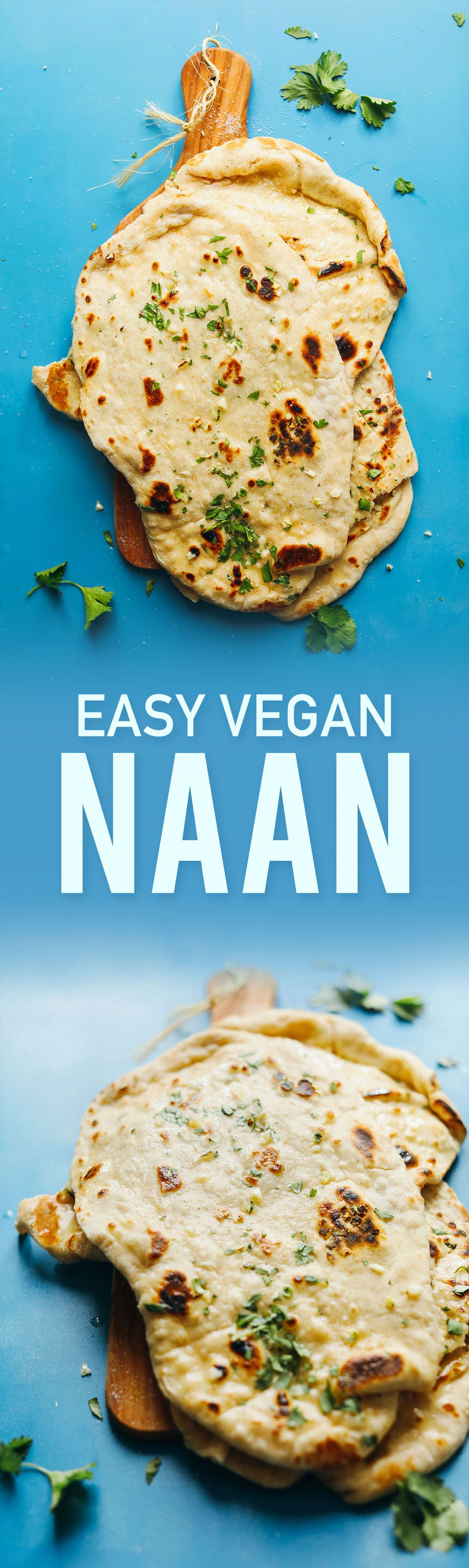 Easy Vegan Naan #homemadesweets