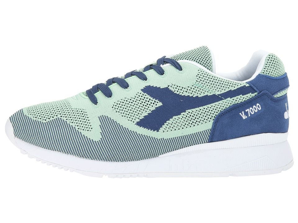 Diadora V7000 Weave Athletic Shoes Blue LimogesVerde