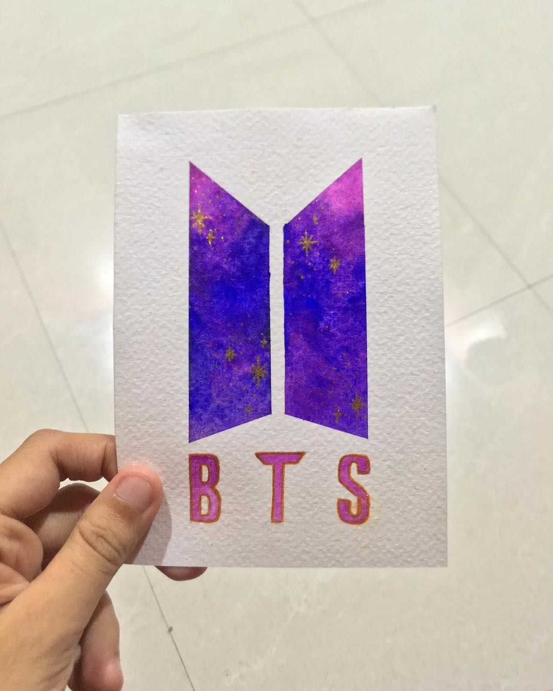A Little Card I Made For Purpletae For Her Birthday Still Haven T Given It To Her I Love Happy Birthday Cards Handmade Bts Birthdays Birthday Cards Diy