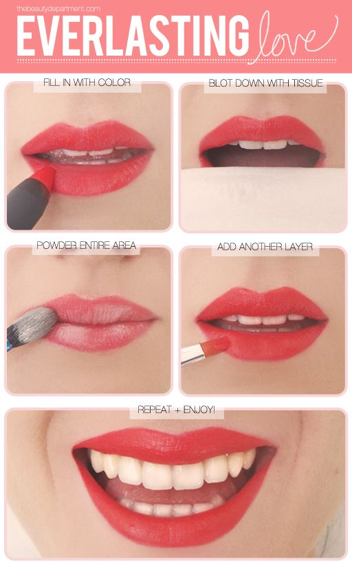 Long lasting lipstick trick! I need to try this too!